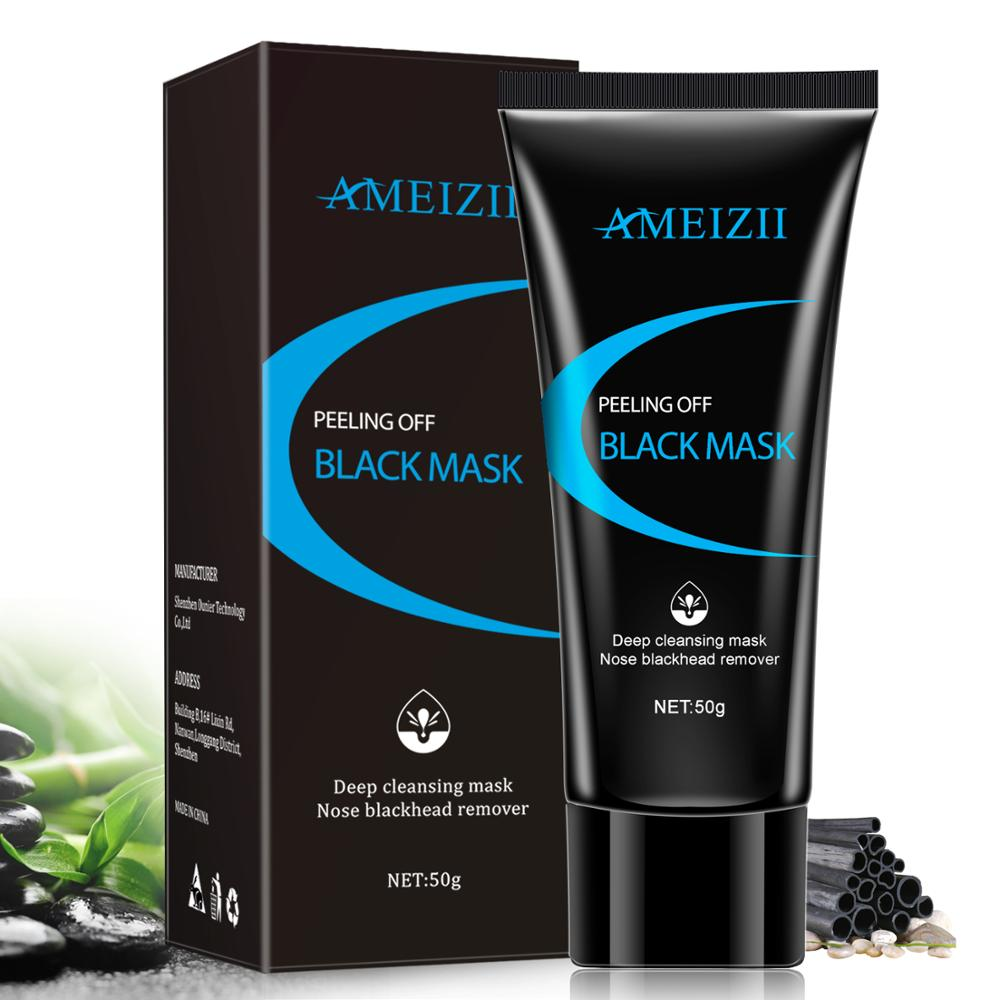 AMEIZII Blackhead Remover Nose Black Mask Face Care Mud Acne Treatment Peel Off Mask Pore Strip Black Deep Cleansing Skin Care