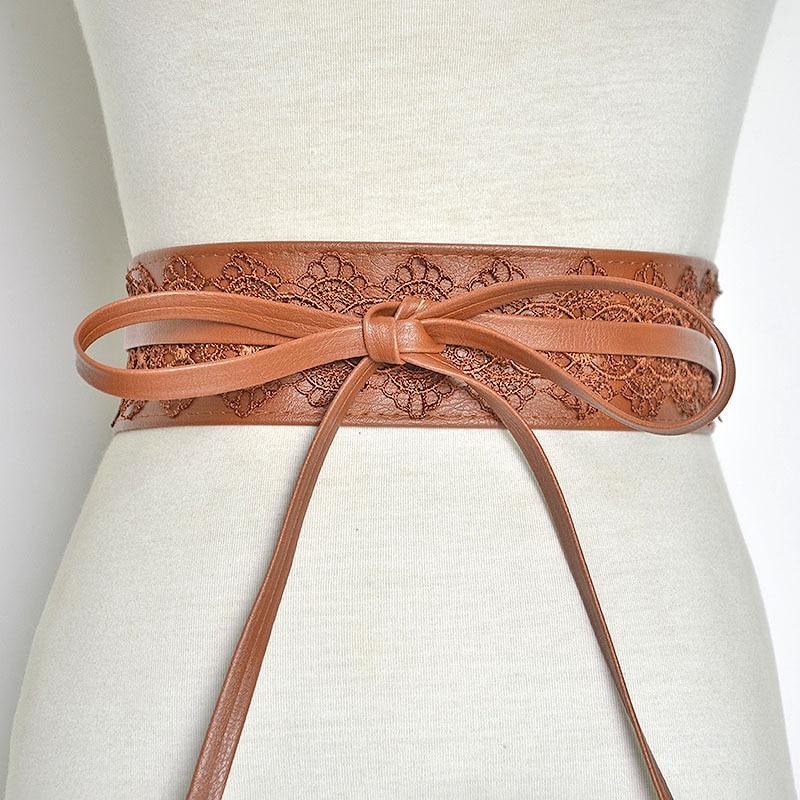 New Novelty Vintage Girdle Women's Lace Wide Belt Stretchy Corset Female Black Cincher Waistband Belts Lady Dress Accessories