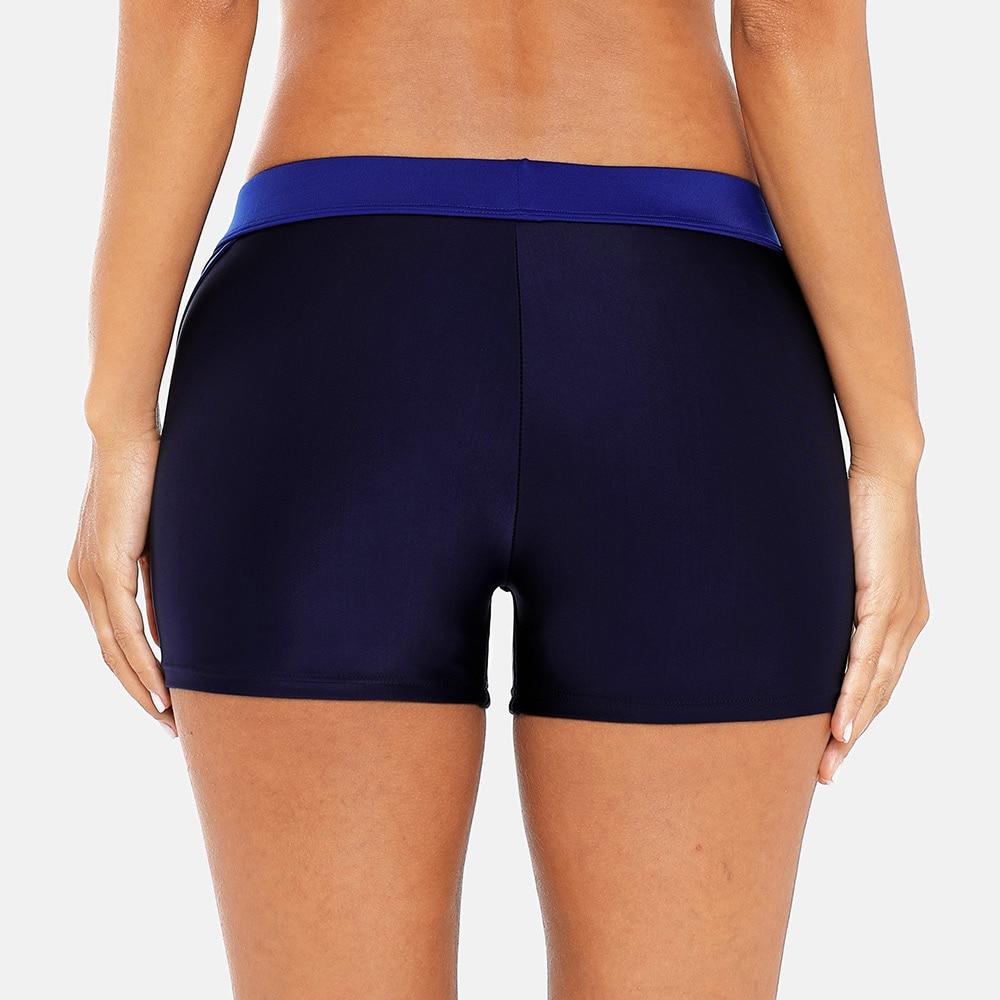 Charmo Women Swimming Shorts Ladies Color Patchwork Bikini Swimwear Briefs Tankini Split Bottoms in Two Piece Separates from Sports Entertainment