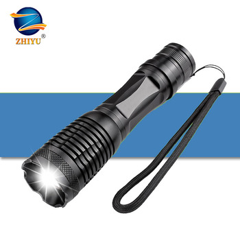 цена ZHIYU T6 LED flashlight Ultra Bright torch led torch T6 Zoomable Bicycle Light use AAA 18650 battery Waterproof Camping light онлайн в 2017 году