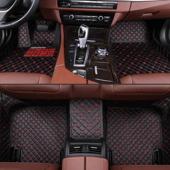 Car Floor Mats For Nissan Livina 2007 2008 2009 2010 2011 2012 2013-2018 Auto Foot Pad Waterproof Leather Auto Carpet Cover