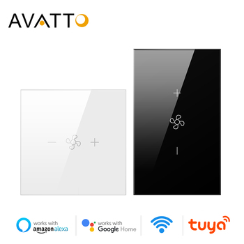 AVATTO Smart Wifi Ceiling Fan Switch,EU/US Tuya Smart Life Remote Timer and Various Speed Control Work with Alexa, Google Home