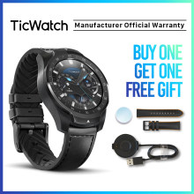 TicWatch Pro Silber Smart Uhr Layered Display Bluetooth Uhr Mit GPS NFC Zahlung IP68 Google Spielen Mobvoi Original(China)