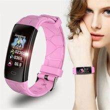 купить 2019 New LIGE Women Smart bracelet IP68 Waterproof Heart Rate Monitor Fitness Bracelet Smartwatch Men Smart Band For Android IOS дешево