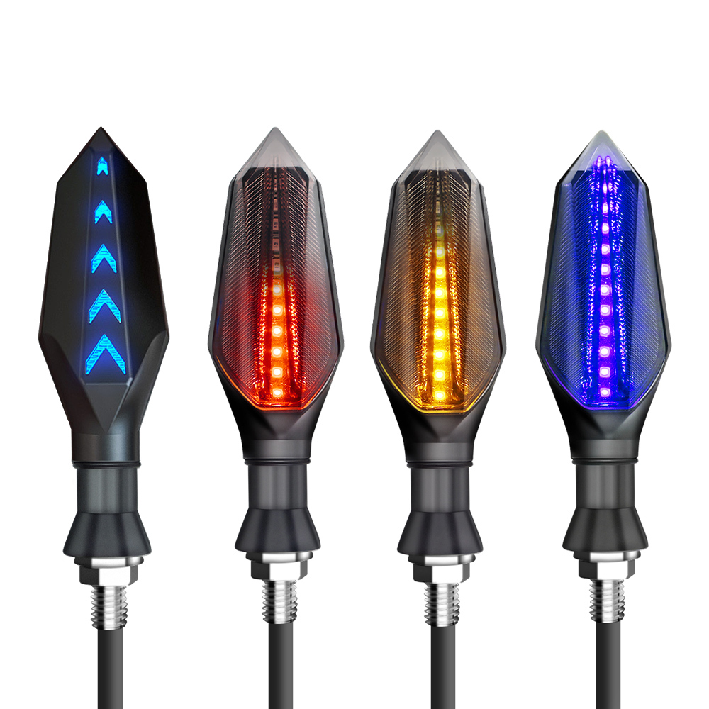 Motorcycle Led Turn Signals Lamp Arrows Lights Blinker Flashing Indicators Amber for <font><b>yamaha</b></font> yz 125 r3 r6 r15 2017 <font><b>dt</b></font> pw <font><b>50</b></font> 80 image