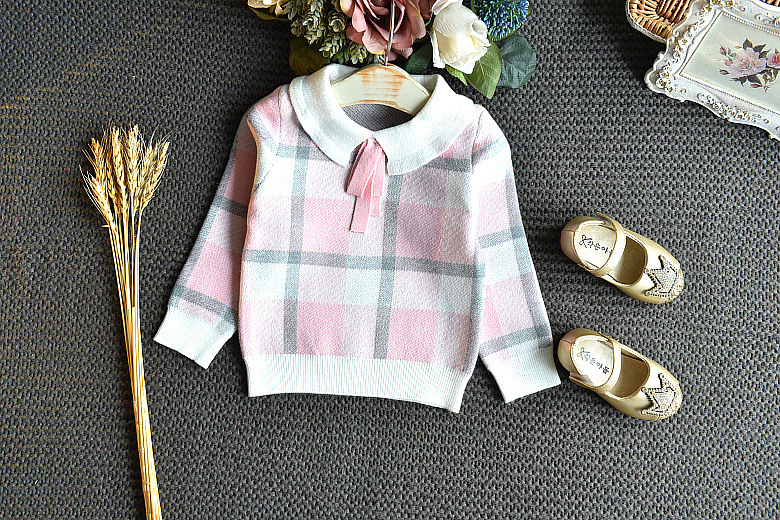 Baby Girls Winter Clothes Set Christmas Outfits Kids Girls Plaid Knit Sweater&skirt Fall Girl Clothing Set Children Costume 30