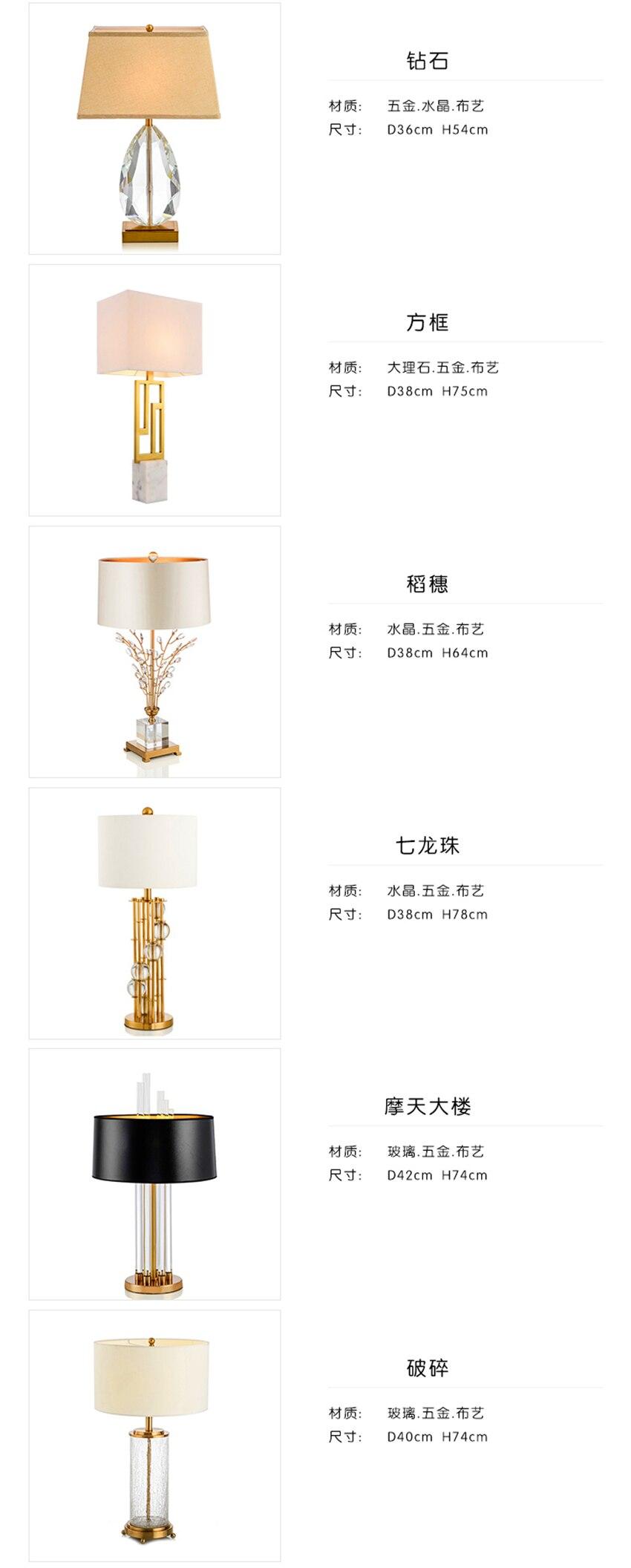 Pós-moderno conduziu a lâmpada de mesa nordic