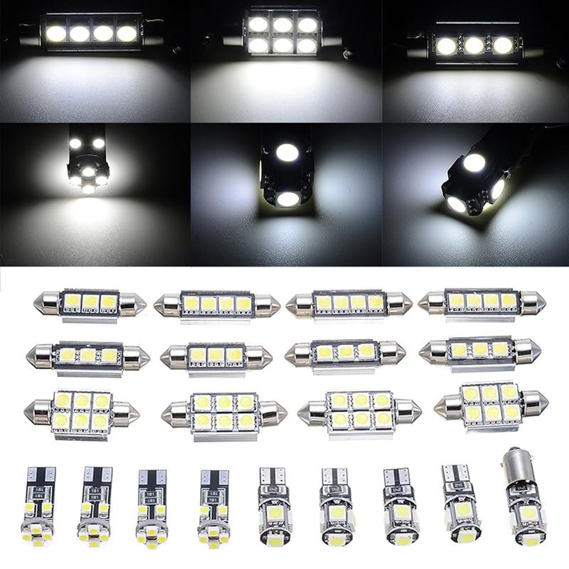 21pcs Car White Inner 6000K LED Lights Set For BMW 5 Series M5 E60 E61 2004-2010