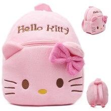 Детский плюшевый рюкзак с мультипликационным принтом «hello kitty» для маленьких мальчиков и девочек, школьная сумка на плечо, рюкзак для маленьких девочек