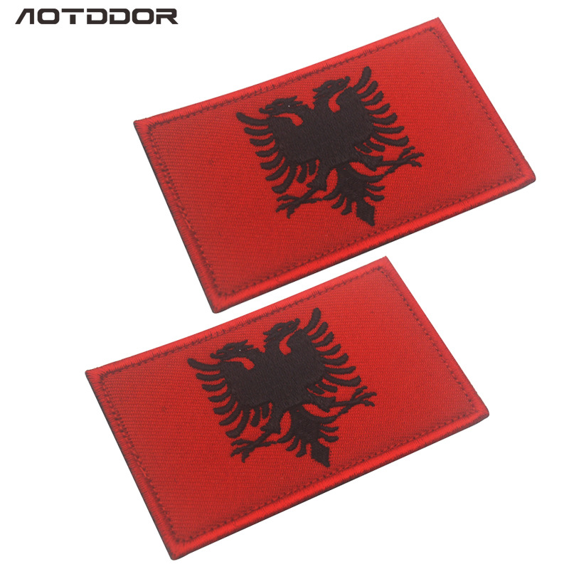 Albania-embroidery-flag-Patch-Badge-US-Army-Tactical-Combat-Emblem-Applique-sticker-Morale-Military-Patches