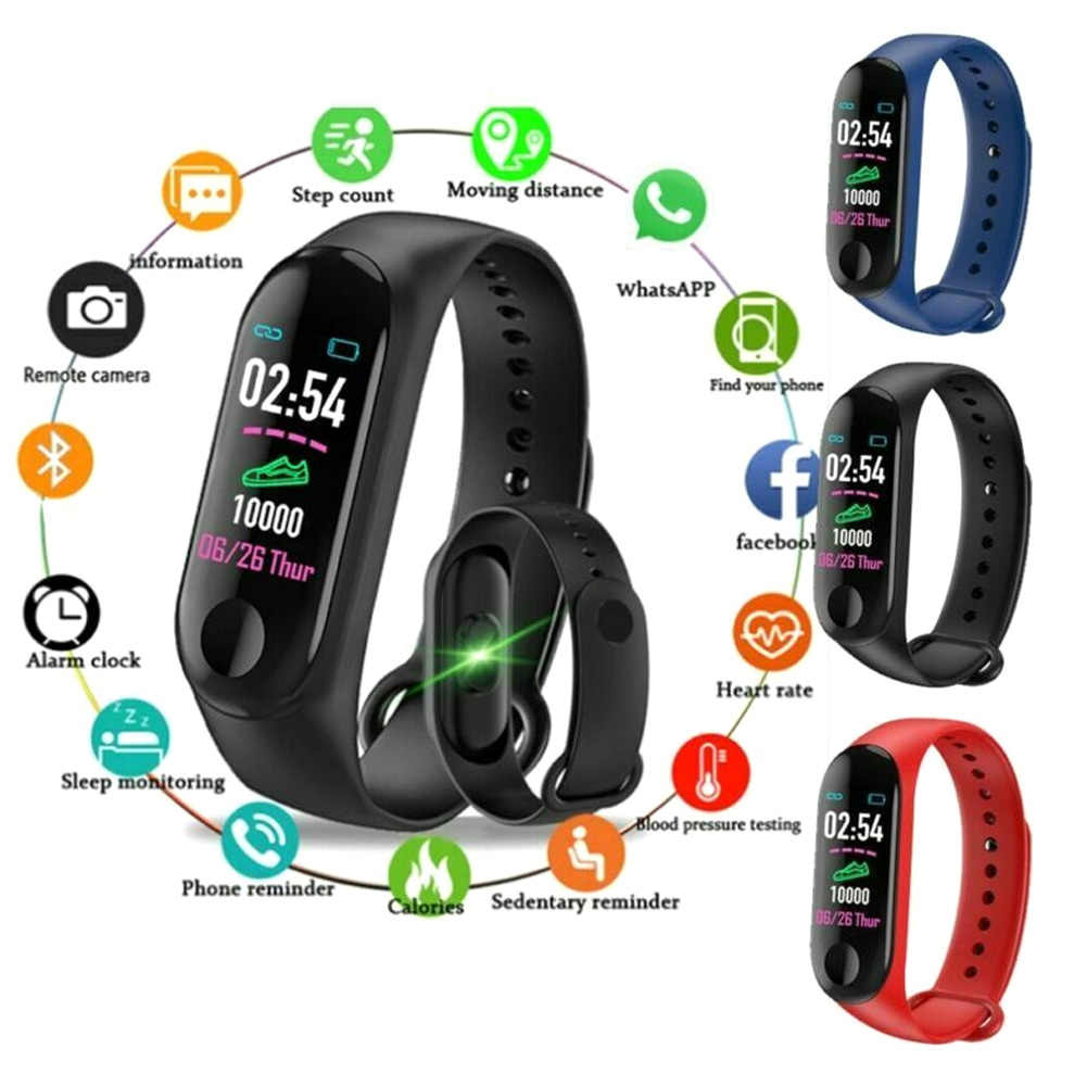 Quente relógio inteligente pulseira pulseira de pressão arterial monitor de monitoramento de fitness 19ing