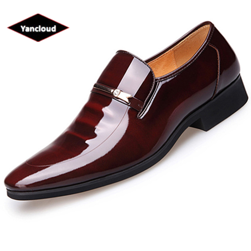 Summer Autumn Pointed Toe Mens Dress Shoes 2019 Breathable Black Wedding Shoes Formal Suit Office Shoes Man Leather Shoe
