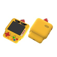 W1 mini frango retro handheld game console build-in 99 rpg/act/avg. etc jogos clássicos, mochila pingente frango game console