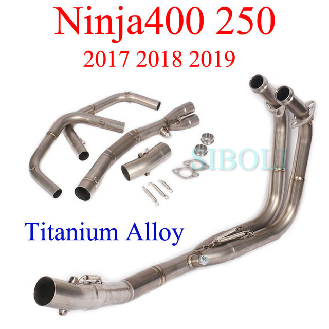 Ninja400 250 2017 2018 2019 Motorcycle Full Systems Exhaust Connect Pipe Titanium Alloy Header Pipe For Kawasaki Ninja400 250