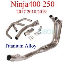 Ninja400 250 2017 2018 2019 мотоциклетная полная система выхлопной трубы Соединительная труба из титанового сплава трубка для Kawasaki Ninja400 250