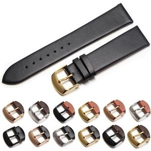 Cowhide watch band genuine leather 18mm 20mm 22mm thin smooth watch strap belt Suitable for DW watches galaxy watch gear s3(China)