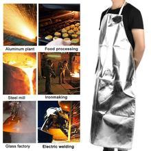 Arbeit kleidung 1000 Celsius Hitze Beständig Aluminium Folie Schürze Hohe Temperatur Arbeits Schürze overol hause