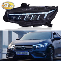 SNCN Car Styling LED Headlight For Honda Civic 2016 2017 2018 2019 LED DRL Dynamic Turn Signal Light Head Lamp Assembly