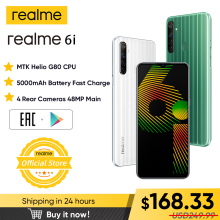 Realme 6i New Global-Version Dewdrop-Display 128GB 4gbb WCDMA/GSM Nfc Quick Charge 3.0