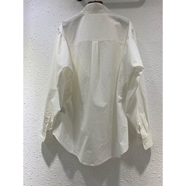Women Long Sleeve Shirt Pockets Single Breasted Solid Color 2020 New Female Blouse 4