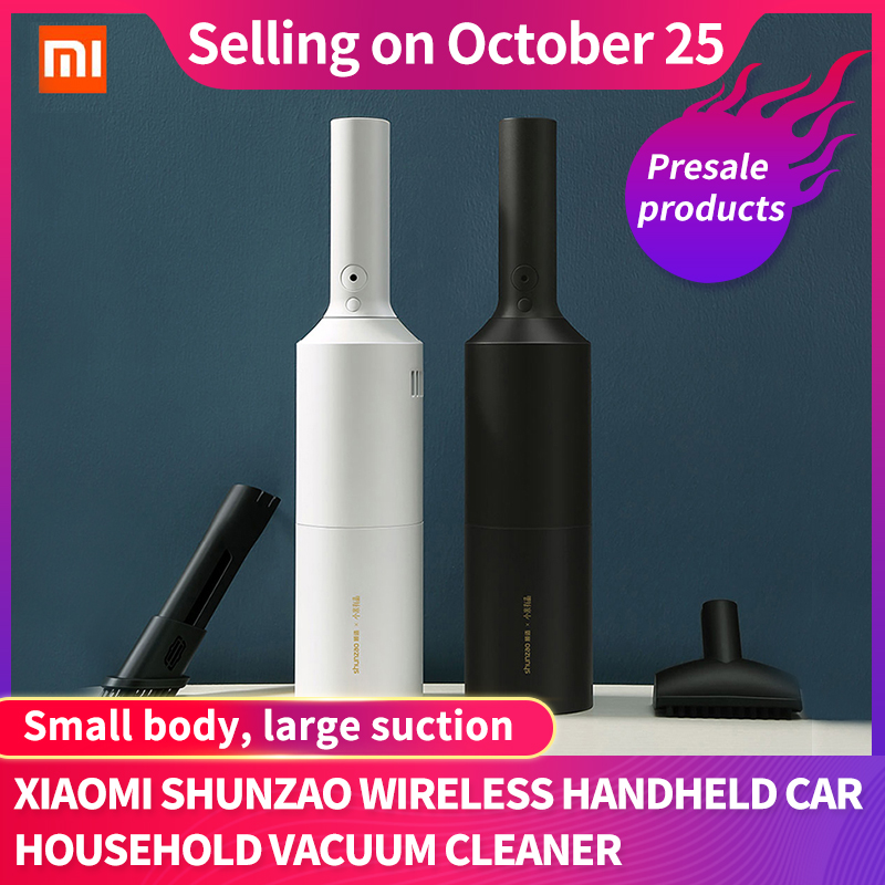 Original Xiaomi Mijia Shunzao Wireless Handheld Vacuum Cleaner Z1/Z1 Pro Mini Portable Dust Catcher for Car Home office Bed Sofa