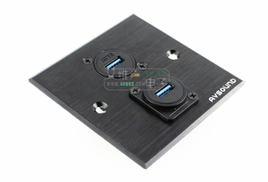 Image 5 - 1pcs HighSpeed USB 3.0 USB 2.0 data transmission pass through solder free D type double pass A port docking socket cabinet panel