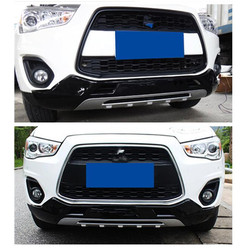 Dla Mitsubishi ASX 2018 wysokiej jakości plastik ABS Chrome przód + osłona tylnego zderzaka tapicerka stylizacja samochodu