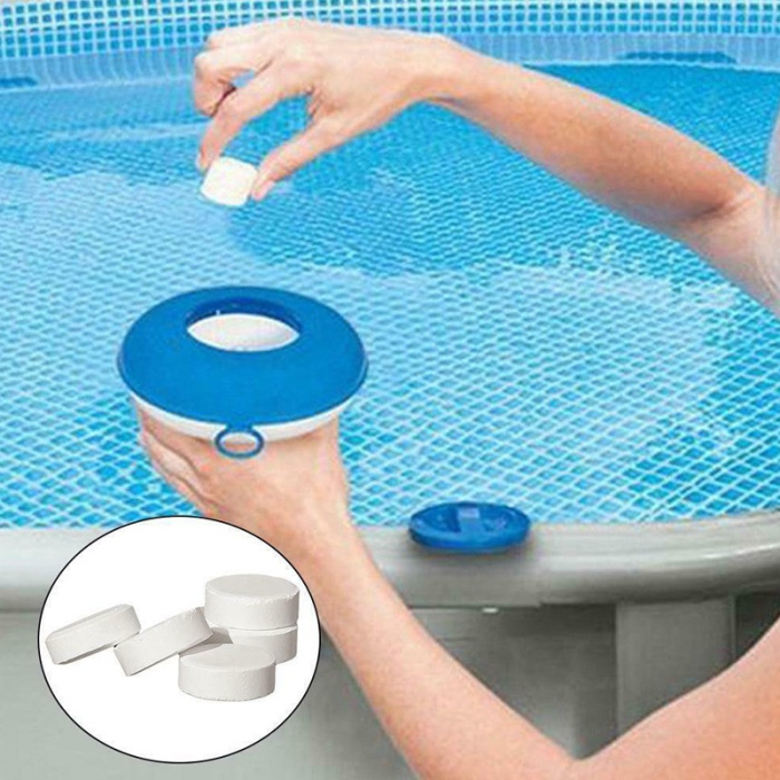 50Pcs Chlorine Dioxide Tablets Multifunction Swimming Pool Tub Spa Disinfection