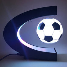 Lâmpada magnética esportiva de levitação, lâmpada flutuante iluminat para crianças, decoração de futebol, presente de natal