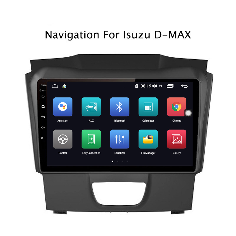 Clearance Ectwodvd 9inch Andriod 8.1 Car DVD GPS For Isuzu D-MAX DMAX 2015-2018 4G RAM 64G ROM CarPlay DSP 4G LTE with WIFI 1