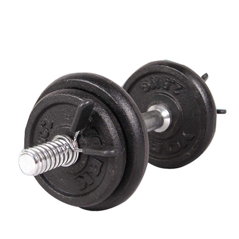 2 stücke 25mm Sport Fitness Zubehör Sport Zubehör Hause Barbell Gym Gewicht Bar Hantel Lock Clamp Frühling Kragen Clips pesas