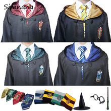 Cosplay Costume Potter Robe Cloak Tie Scarf Ravenclaw Gryffindor Hufflepuff Slytherin Halloween Costumes