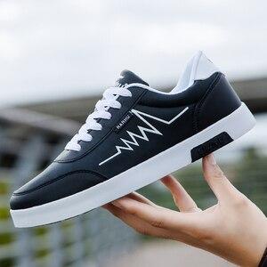 Image 5 - Haute qualité marque hommes chaussures décontractées offre spéciale printemps automne chaussures décontractées hommes respirant mode rouge noir chaussures hommes décontractées blanc