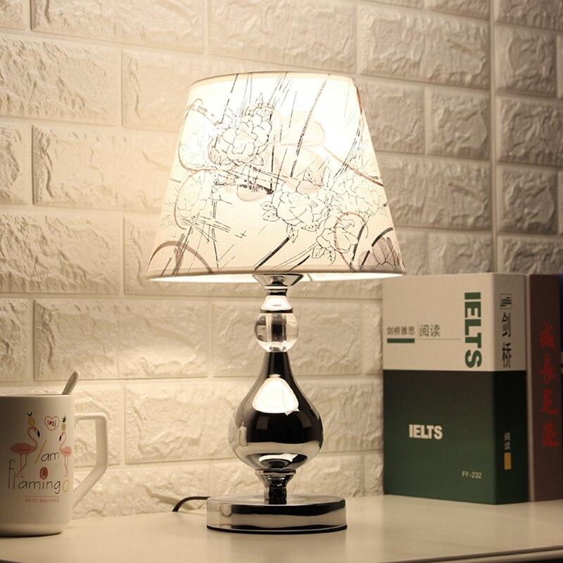 Светодиодная Хрустальная настольная лампа для спальни, прикроватная лампа, современная лампа для гостиной, настольная лампа для спальни, д...