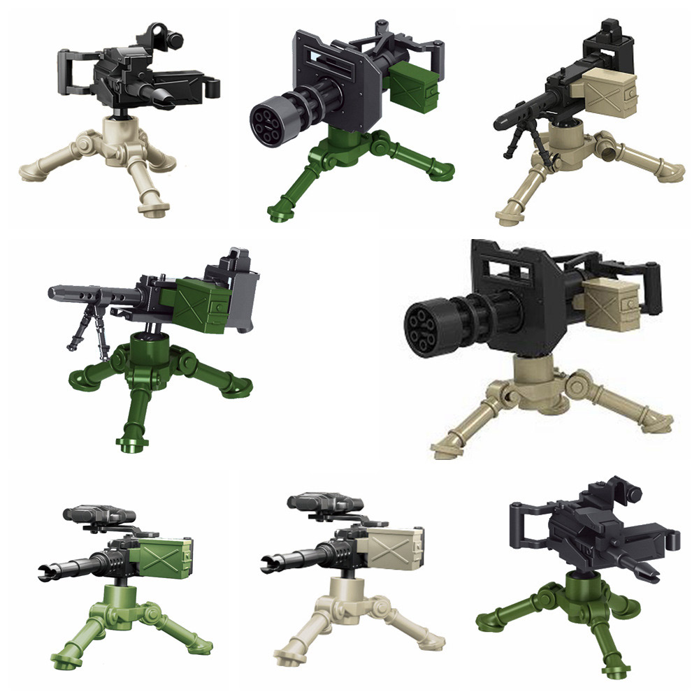 Weapons Model Building Blocks Military Series Bricks Figures Accessories Toys For Childrens