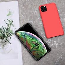 Dla iPhone 11 case NILLKIN Flex Pure CASE Slim miękka płynna guma silikonowa odporna na wstrząsy etui na telefon iPhone 11Pro Max cover