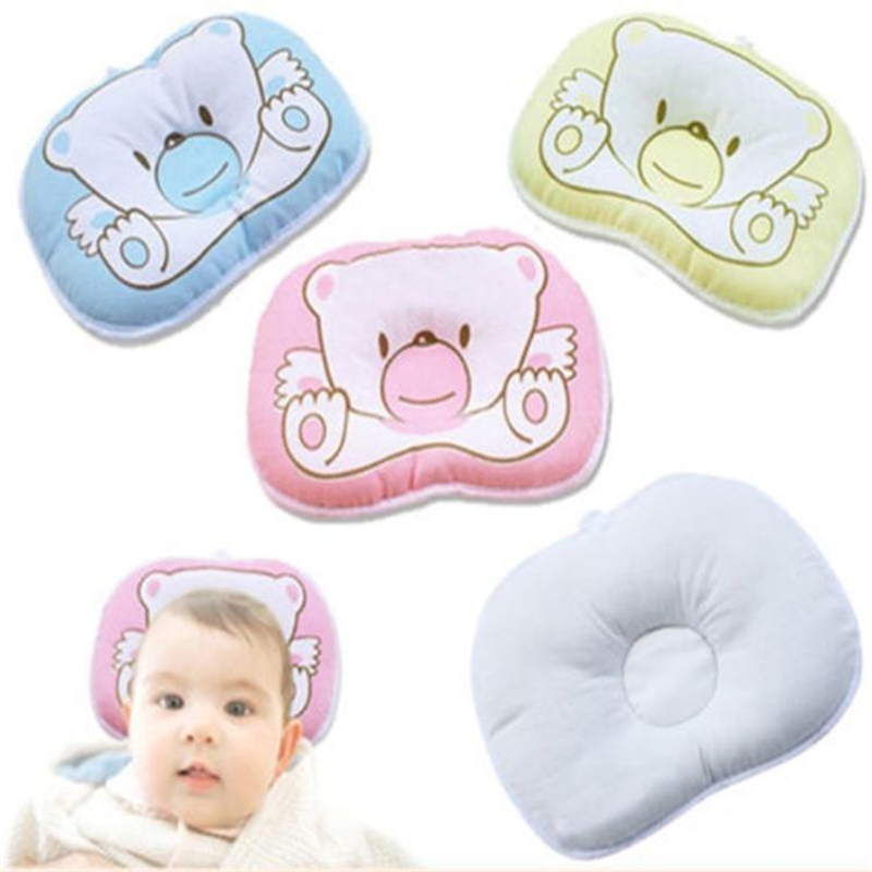 Cotton Pillow Newborn Infant Oval Shape Cotton Blend Kids Bed 1pc Baby Bear Baby Pillow Baby Newborn Bear Cotton Infant Roll