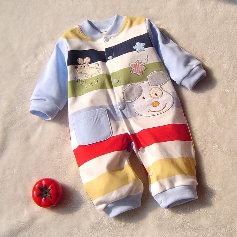 Vår høst nyfødt baby gutteklær 100% bomull Langermet baby rompers mykt spedbarn baby klær smårolling baby klær