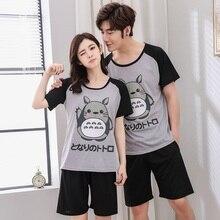 Plus Size Couples Cute Cartoon Shorts Pajama Sets for Women