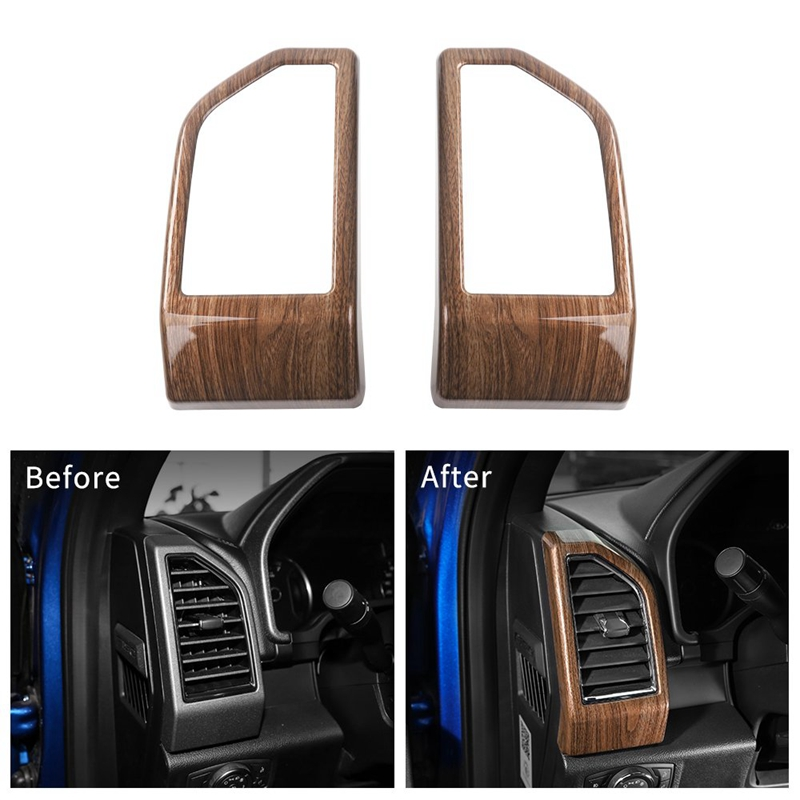 Car Dashboard Panel Air Conditioning Outlet Vent Covers Trim For Ford F150 2015 2016 2017
