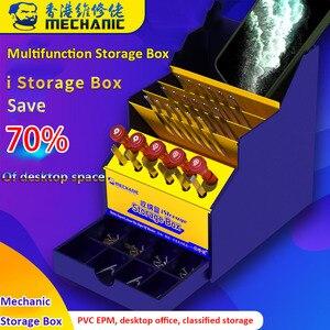 Mecânico multifuncional reparo do telefone móvel desktop caixa de armazenamento caixa componente chave de fenda pinças ferramenta titular caixa organização