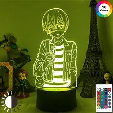 Anime Noir Butler Figure Modèle 3D Lampe Phantomhive Ciel Figurines LED Veilleuse Décoration Anime Cadeau Amoureux DropShpping