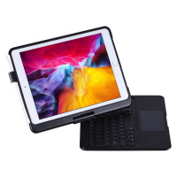 For iPad 7th 10.2 2019 360 Swivel Rotating LED Backlit Wireless Bluetooth Touchpad Keyboard Case Stand Cover With Pencil Holder