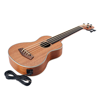 Rosewood 30 Inch Baritone Ukelele 4 String Guitar Electric Bass For Player