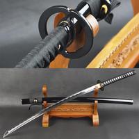 سيوف براندون من الصلب الكربوني البوشيدو مصنوع يدويًا سيوف كاتاس الساموراي السيوف اليابانية الحادة