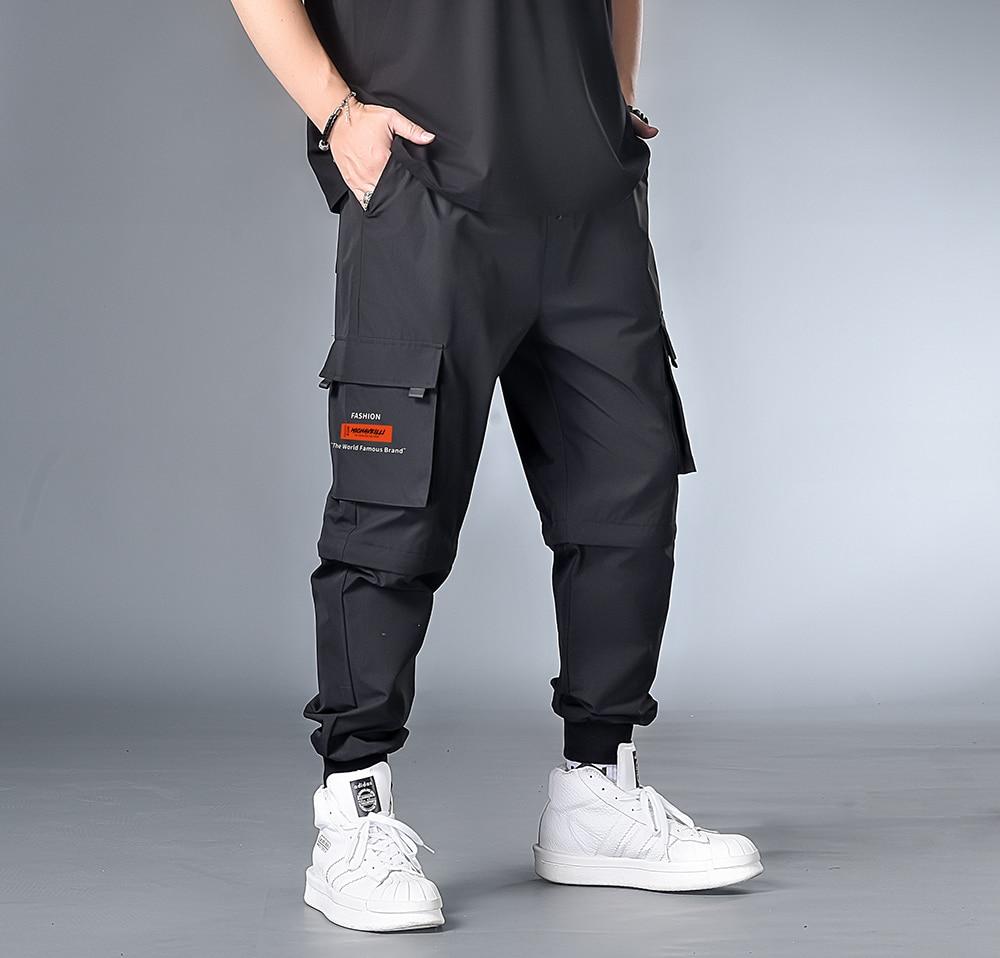 7XL 6XL XXXXL Plus Cargo Harem Pants 2020 Spring Funny Streetwear Japanese Hip Hop Mens Sweatpants Casual Pockets Men Joggers