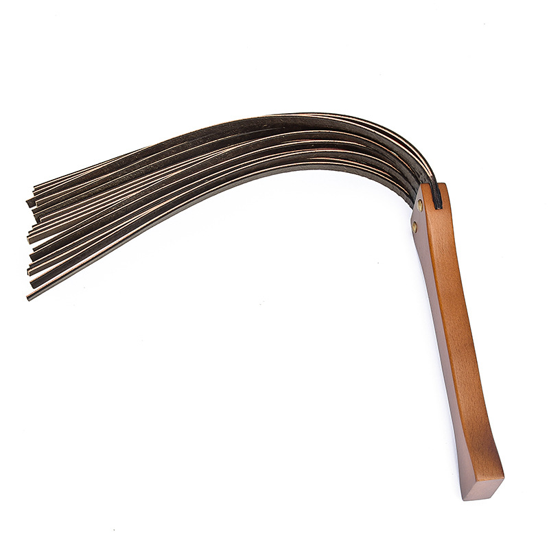 """New Improved 21.3"""" Handwork Make Ancient Wooden Handle Genuine Cow Leather Deluxe Riding Crop Whip"""