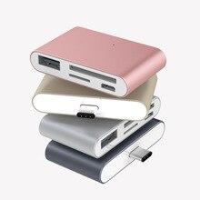 OTG USB3.1 Typ C Kartenleser USB C zu USB2.0 SD TF Micro USB Multifunktions Konverter für Telefon Computer Datum übertragung Gebrauch