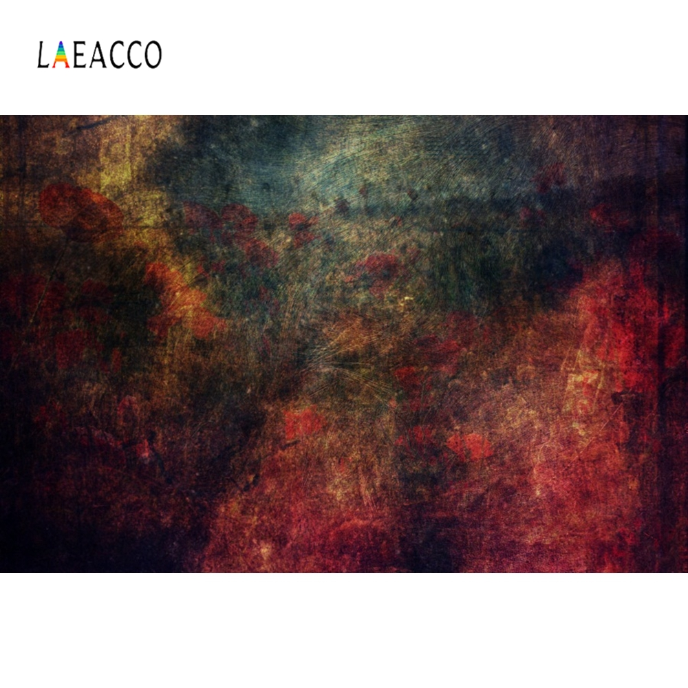 Laeacco Old Gradient Wall Grunge Coffee Cake Portrait Photography Backgrounds Customized Photographic Backdrops For Photo Studio