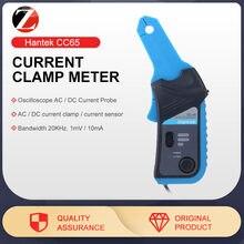 Hantek medidor de corrente ac/dc cc65, para osciloscópio 1008c e multímetro com conector bnc 20khz de largura de banda 1mv/10ma 65a